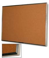 "Sturdy Natural Cork Board with Aluminum Frame, 48"" x 96"" 40 2034896 LNO"