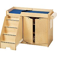 Changing Table Birch with Stairs  Left  5131JC