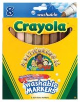 Crayola® Washable Broad Tip Markers (8/pk, Multicultural) 56-7801
