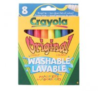 Markers Crayola Washable Markers Pack of 8