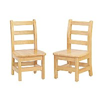 Jonti-Craft Ladder Back Chairs 8 inch Seat Height Set of Two 5908JC2