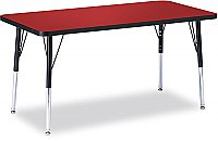 "Activity Table 24"" x 36"" Rectangle Melamine Laminate table tops Adjustable Height (COLOUR OPTION AVAILABLE) 6478JCT"