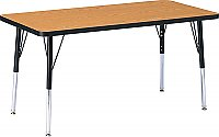 "Activity Table 30""x 60"" Rectangle Melamine Laminate table tops Adjustable Height (COLOUR OPTION AVAILABLE) 6408JCT"