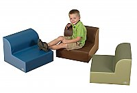 Cozy Woodland Library Trio Seating Set of 3 CF705-556