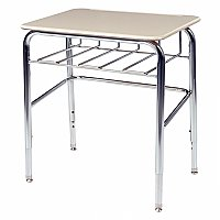 "72 Series School Desk with Hard Plastic Top & Wire Book Box - 25-30""H Virco-72BRLBM"