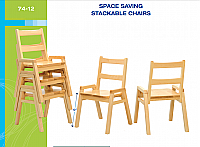 "SOLID MAPLE STACKABLE CHAIR 12"" JB74-12"