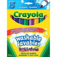 8 Crayola Intense Washable Broadline Markers A26-567988