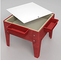 TODDLER MITE SENSORY TABLE WITH TRAY & LID RED FRAME S8018 RD