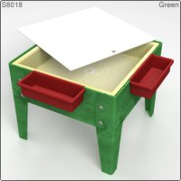 Toddler Mite Sensory Table with Tray & Lid Green Frame S8018 GR