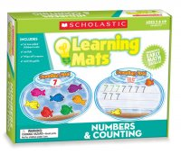 Scholastic Teacher's Friend Numbers & Counting Learning Mats, Multiple Colors TF7102