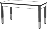 "Science Tables with Adjustable height metal legs-3/4""Thick Acid Resistant Phenolic 60""W/24""D (SIZE OPTION AVAILABLE) SI 84122 Z24 (24)"