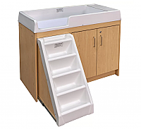 TODDLER WALK UP CHANGING TABLE (FULLY ASSEMBLED) MAPLE 8534A