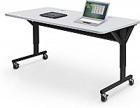 "ADJUSTABLE HEIGHT BRAWNY TRAINING TABLE 72"" X 30"" GRAY BALT 89848"