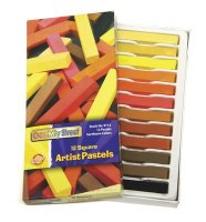 Earthtone Square Artist Pastels - 12 Color Set CK-9713