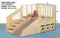 Tiny Tots Loft 12 to 24 Months With Bins 9750JC