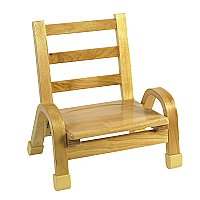Natural Wood Chair 7 Inch Seat Height AB78C07