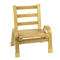 Natural Wood Chair 9 Inch Seat Height AB78C09