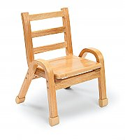 Natural Wood Chair 11 Inch Seat Height AB78C11
