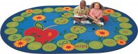 "ABC Caterpillar Rug Size 6'9"" x 9'5"" Oval CK-2295"