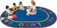 Alpha Classroom Learning Rug Size 6'9 x 9'5 Oval CK 4995