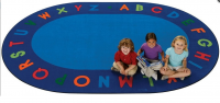 Alphabet Circletime Oval School Rug Size 6'9 x 9'5 Oval CK 2506