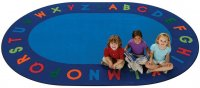 Alphabet Circletime Oval School Rug 8'3 x 11'8 Oval CK 2508