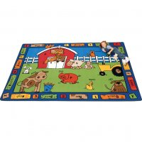 "Alphabet Farm Rug Rectangle Size:4'5"" x 5'10"" CFK 5201"