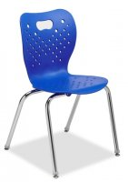 "Stackable Chairs Chrome Frame Seat height 12"" (Color Option Available) CA-12 CH"