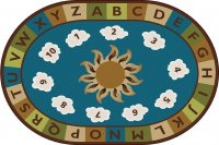 Sunny Day Learn & Play Nature Rug 4' x 6' Oval CK 94704