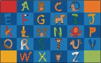 "A to Z Animals 8'4"" x 13'4"" Rectangle CK-5534"