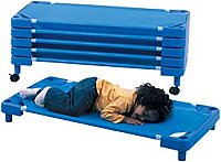"Children's Factory Rest Time Toddler Cot 43.5""L x 21.5""W x 5""H CF005-004"