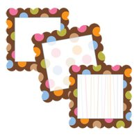 Designer Cut-Outs Variety Pack Dots on Chocolate [CTP1798]