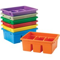 Clear Divided Book Tub E63-CC4069C