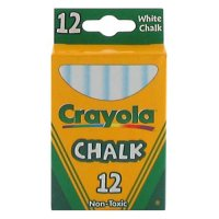 Crayola White Chalk 12 pcs