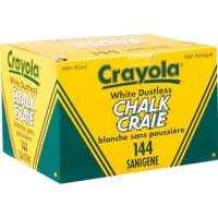 Crayola White Chalk 144 pcs 51-1406