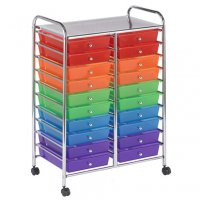 20 Drawer Mobile Organizer - Assorted ELR-011-AS