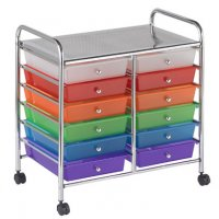 12 Drawer Mobile Organizer - Assorted ELR-0261-AS