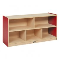 "Colorful Essentials 24""H Storage Cabinet 5 Comp -RED ELR-0711-RD"