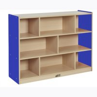 "Colorful Essentials 36""H Storage Cabinet 8 Comp BLUE ELR-0713-BL"