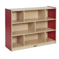 "Colorful Essentials 36""H Storage Cabinet 8 Comp RED ELR-0713-RD"