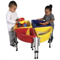 4 Station Round Sand & Water Play Table with Lids ELR-0798