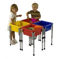 Four Station Square Sand & Water Play Table with Lids ELR-0799
