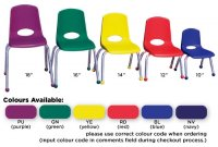 "16""Stackable School Chair XX  ELR0195"
