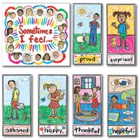 Emotions Kid Drawn Bulletin Board Set : A15-3250