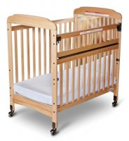 "Serenity™ SafeReach™ Compact Crib With 3"" Thick Mattress Clear view 2542043 Natural"