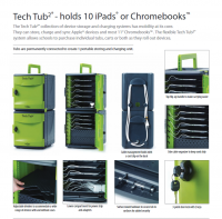 Tech Tub2® Trolley - holds 10 devices  FTT1010