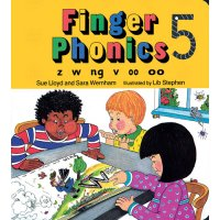 Finger Phonics Book 5 in Print Letters (E71-497)