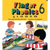 Finger Phonics Book 6 in Print Letters (E71-500)