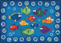 Fishing for Literacy Classroom Rug 6' x 9' CK 6815