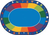 Fun with Phonics Classroom Rug Size 8'3 x 11'8 Oval CK 9616
